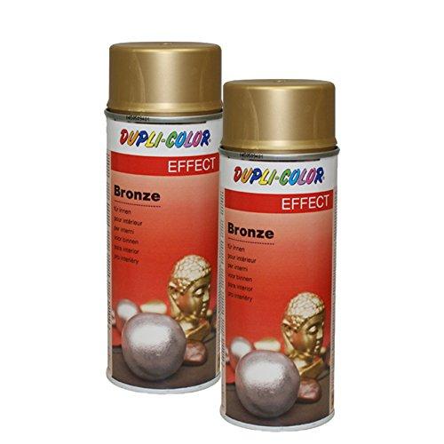 2X DUPLI-Color Bronze Gold Spray Holz Metall Glas PAPPE Pflanzen INNENBREICH 400