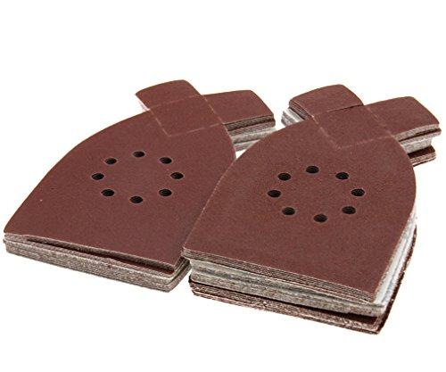 Fogli abrasivi per levigatrice 50pezzi carta vetrata per Black & Decker KA220G KA230