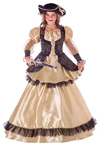 Ciao 26324.5-7 Reina de los Piratas Disfraz Niña 2-En-1, Multicolor, 5-7 años