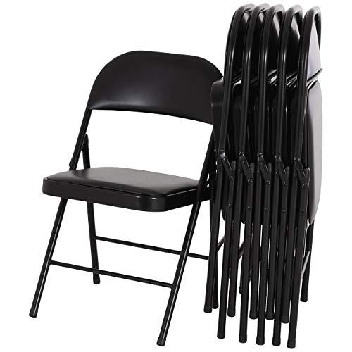 MACOShopde by MACO Möbel RABURG Konferenzstuhl 6er Set Elias - Kunstleder, stabiles Faltstuhl/Gästestuhl-Set aus Stahl in schwarz, bis 130 kg belastbar!