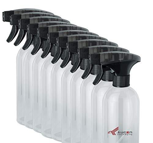ÄUGEN GmbH | Sprühflaschen | Sprühkopf-Trigger | Spray Bottle | Pumpflaschen (1 0 Stk a 500ml schwarz)