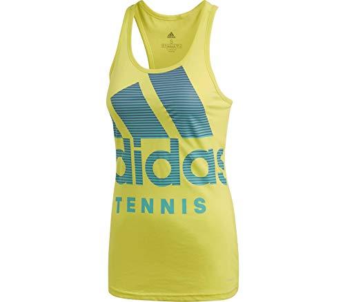 adidas Camiseta de Tirantes para Mujer Categoría, Color Amarillo, Turquesa, Talla L