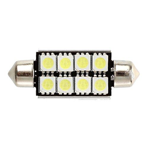 tellaLuna 2 piezas Canbus Festoon 8 SMD LED 211 C5W Festoon Lámpara 43 mm