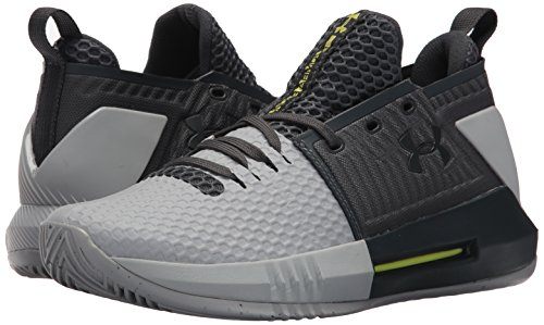 Under Armour Men's Drive 4 Low Basketball Shoe, Stealth Gray (111)/Overcast Gray, 9