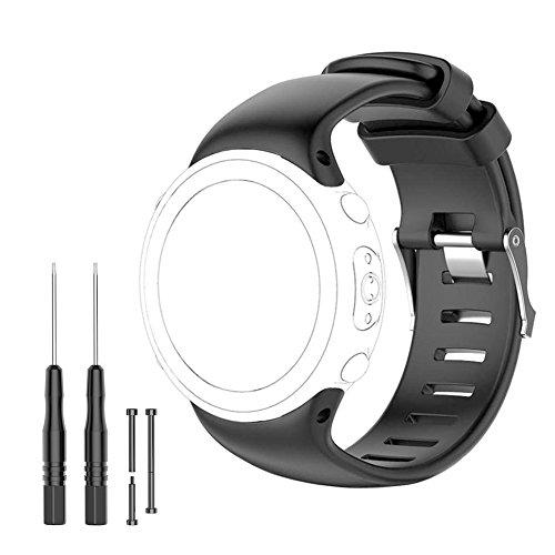 JTMM Suunto D4i - Correa de repuesto para Suunto D4, D4i, D4i Novo reloj de pulsera para ordenador - Se adapta a (145 mm - 220 mm) FreeTools, pines de barra de tornillo, Loctite