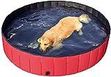 Plegable Bañera De Gatos Piscinas Infantiles,Plegable Piscina para Perros Bañera De Baño,Al Aire Libre Piscina Portátil para Ducha, Mascota Piscina para Perros Grandes Rojo Diámetro80cm(31inch)