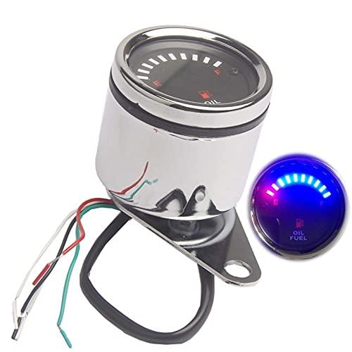 Odómetro Universal Motorcycle Meter Electronic Aceite Aceite Calibre de Combustible Indicador de Scooter Indicador Velocímetro Retroiluminación 12V Moto Instrumento