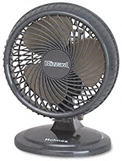 Holmes 8-Inch Fan | Lil' Blizzard Oscillating Table Fan, Black