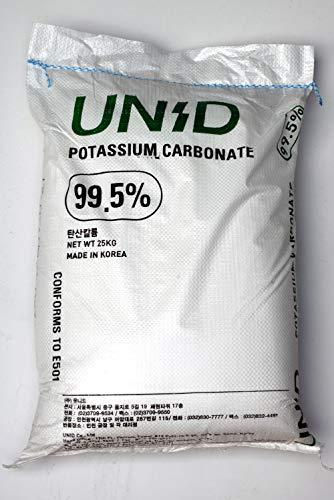 25kg Pottasche Kaliumcarbonat K2CO3 (rein >99.5{f9d30387aa8f71682920c4d5767222fbe5c7c67105544623d6e6886acb26a229})