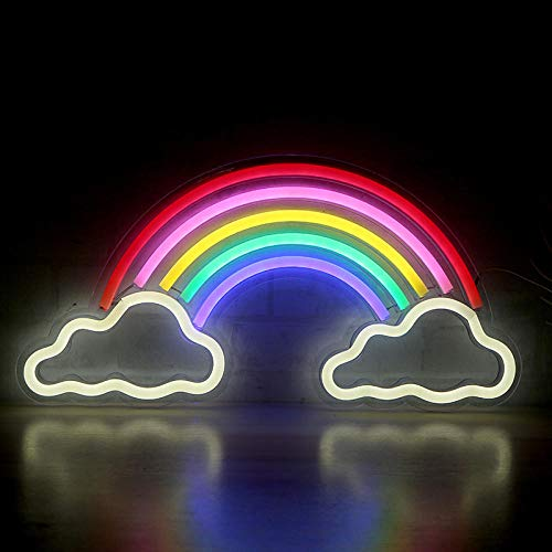 Neon Backlight Full Series Acrílico Transparente Night Light-0.8_Back Panel Lights Arcoiris Nubes