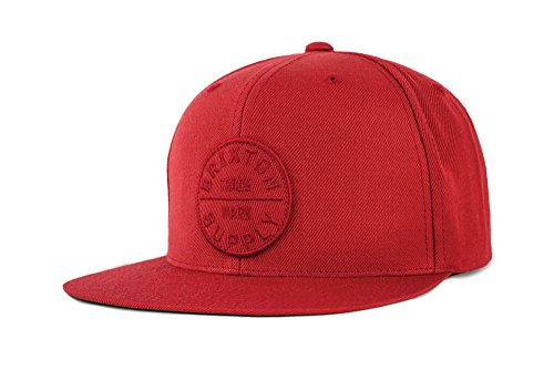 BRIXTON Men's Oath Iii Snapback Baseball Cap, Brick, One Siz