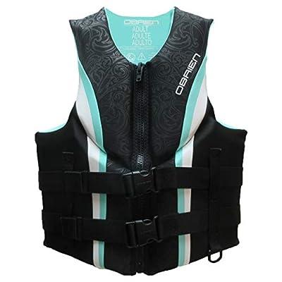 O'Brien 2201926 Impulse Adult Women Neoprene Biolite PFD Water Safety Water Sports Wakeboard Life Jacket Vest, Large, Teal