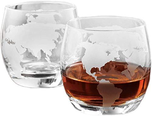 Whiskey-Gläser, geätzt, 350 ml, 2 Stück