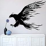 Phoenix vinilo pared pegatina mitología animales calcomanía hada pájaro patas decoración del hogar sala de estar garras mural llama tenedores pavo real O205_ como se muestra
