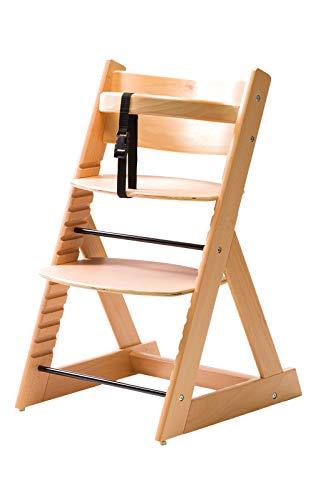 笑顔のダイニングベビーチェアー【マジカルチェアー】安心強度の三角形ベース プレミアム木製椅子 (ナチュ...