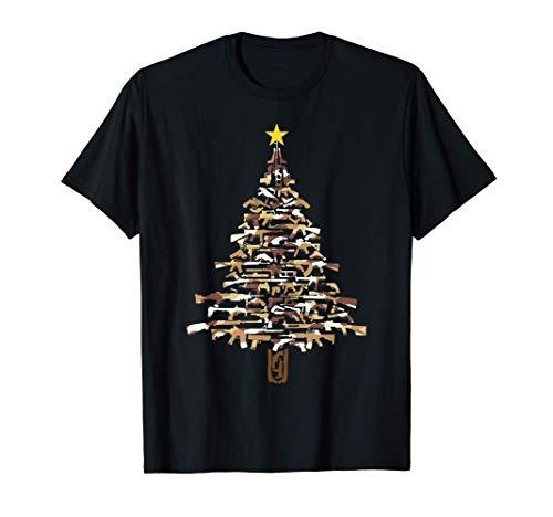 Guns Christmas Tree - Camo Print Xmas Gift For Gun Lover...