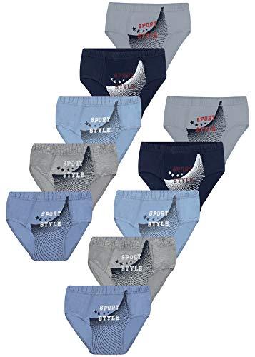 PiriModa 10 STÜCK Jungen Baumwolle Slips Unterhosen (140-146 (10-11Jahre), Modell 8-10 STÜCK)