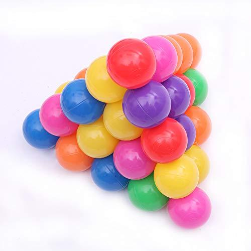 House 200 bolas de plástico suave para el océano de 5,5 cm para nadar y juguetes para bebés y niños coloridos