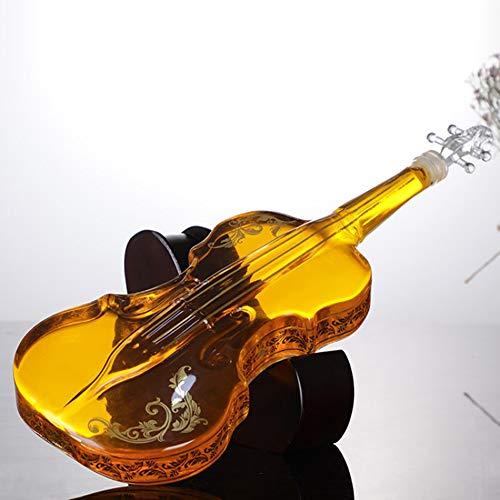 DZSF 1000ML Geblazen Glas Wijndecanter voor Whiskey High-Grade Creatieve Vodka Fles Viool Decoratieve Wijnset
