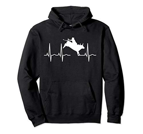 Bull Riding Hoodies for Men Women - Rodeo Lover Gift Pullover Hoodie