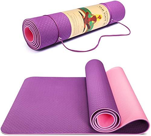 Dyforce Fitnessmatte rutschfest, TPE Yogamatte Rosa Umweltfreundlich...