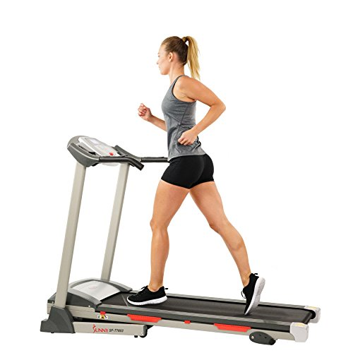 Sunny Health & Fitness Exercise Treadmills, Motorized Running Machine for Home with Folding,...