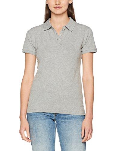 Clique Damen Premium Polo Shirt Polohemd, Grau (Grau), meliert, XXL