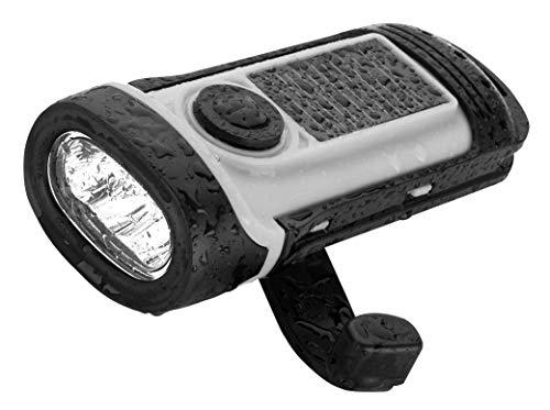 Cao Gris Lampe Solaire & Dynamo 14,8 x 6,2 x 4,5 cm ABS Adulte Unisexe, 8x6,2x4,5cm
