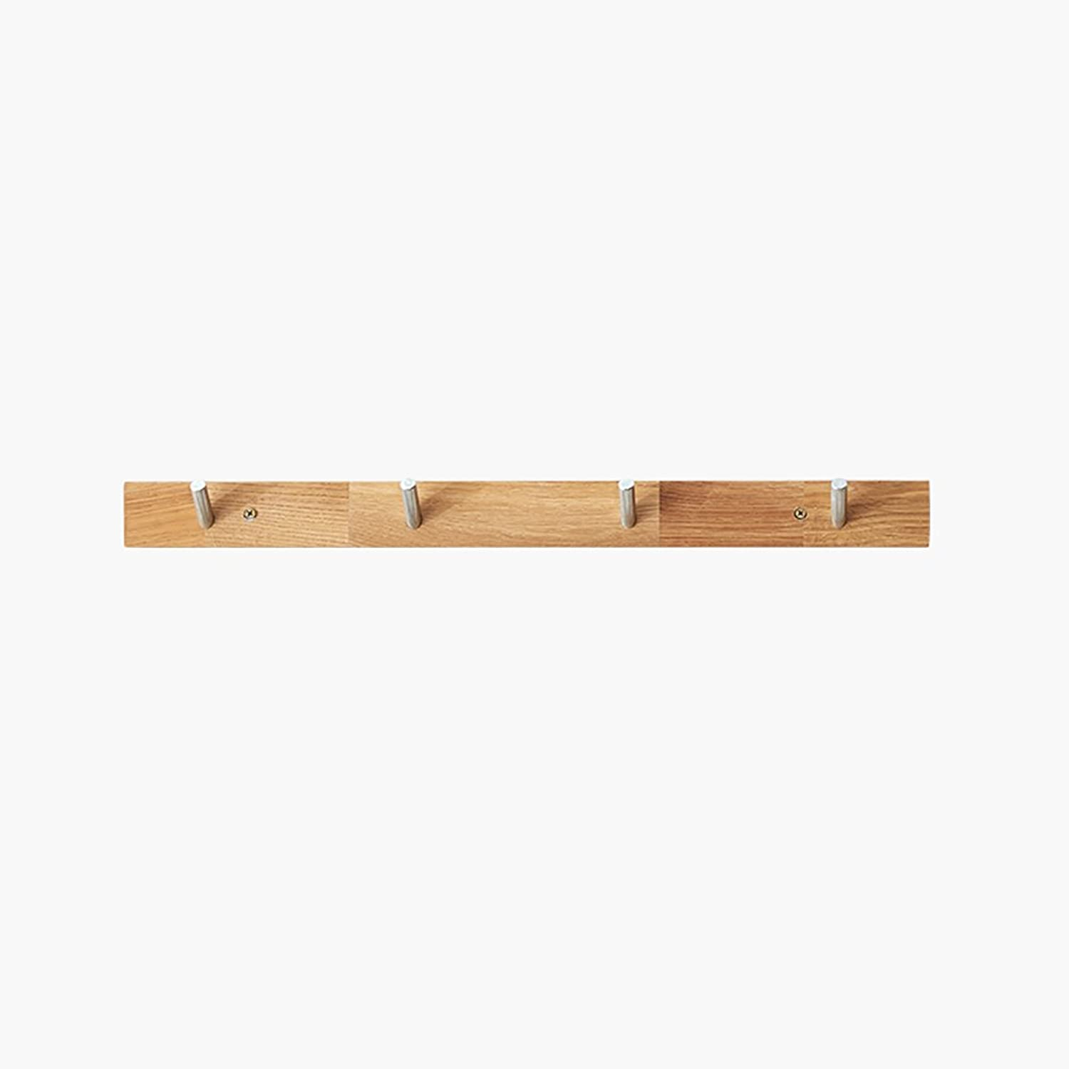 LFF- Simple Environmental Predection Solid Wood Oak Wood Home Straight Wall Hanging Clothes Hanger Entrance Coat Rack (Size   C)