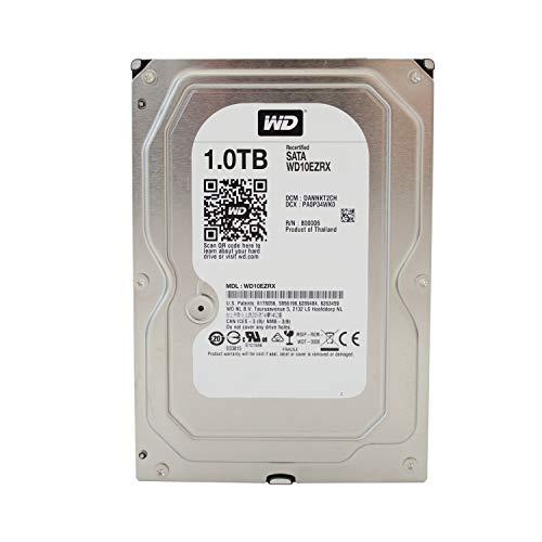 WD Caviar Green Desktop interne Festplatte 3,5 Zoll, 8,9cm, PC, HDD, NAS, IntelliPower, SATA-600, HDD - Kapazität 1.000GB (1TB) (Generalüberholt)