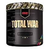 Redcon1 Total War - Pre Workout, 30 Servings, Boost Energy, Increase Endurance and Focus, Beta-Alanine, 350mg Caffeine, Citrulline Malate, Nitric Oxide Booster - Keto Friendly (Rainbow Cnady)