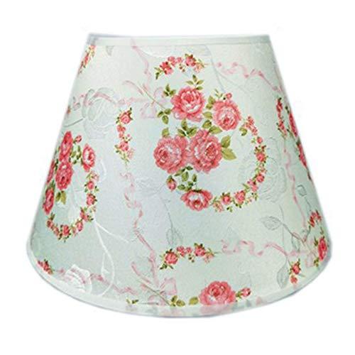 HJUYV-ERT Pantalla de Tela de Lino Tradicional, Forro de PVC, Pantalla de Cono Elegante y contemporánea, Utilizada para lámpara de Mesa, lámpara de pie, A, 30 CM