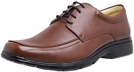 Men's Lace Up Pro Comfort Genuine Leather Oxford Dress Shoes Lightweight