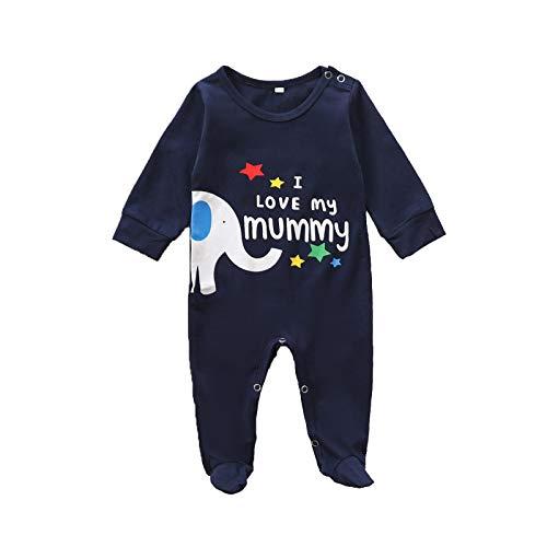 Beudylihy Mono para bebé, sin mangas, body para niños y niñas, mezcla de algodón, cuello redondo, suelto, para verano, fácil de poner y quitar. azul oscuro 0-3 Meses