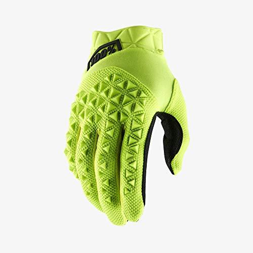 100 Percent AIRMATIC 100% Glove Yellow/Black XL Guantes para ocasión Especial, Hombre, Amarillo Y Negro, Mediano