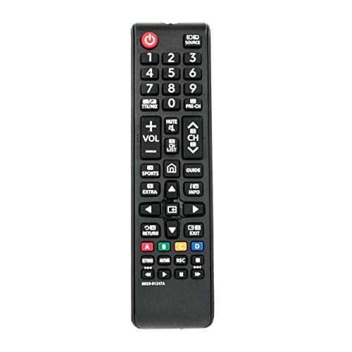 VINABTY Control Remoto BN59-01247A BN59 01247A BN5901247A Apto para Samsung LED Plasma LCD de LCD UE40KU6000 UE49KU6500U...
