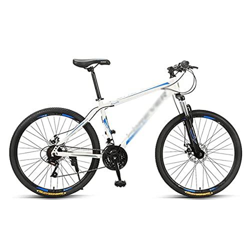 Bicicleta de montaña de 26 Pulgadas con Frenos de Disco Doble Cuadro de Acero al Carbono Cambio de 24/27 velocidades Adecuado para Hombres y Mujeres entusiastas del Ciclismo para senderos, senderos y