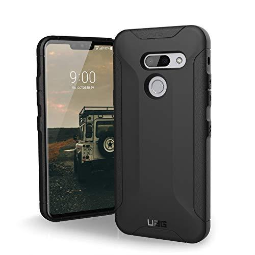 Urban Armor Gear Scout Hülle für das LG G8 ThinQ Handyhülle nach US-Militärstandard (Verstärkte Ecken, Sturzfest, Vergrößerte Tasten) - schwarz