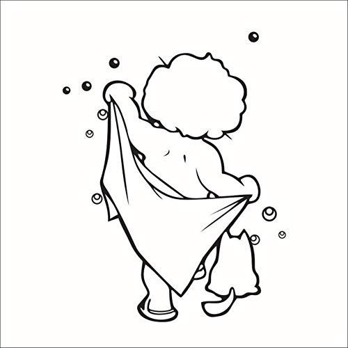 Wandaufkleber Badezimmer Niedliche Kinder Dusche Kunst Aufkleber Für Fliesen Gläser Wandtattoo Home Decor Wandaufkleber Für Badezimmer