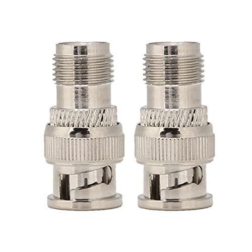 Mxzzand Cabezal Adaptador convertidor 2PCS Características estables Fuerte para Cable Coaxial de telecomunicaciones