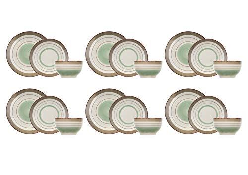 COSY & TRENDY 8940094 Larissa Green - Vajilla (18 piezas), color verde