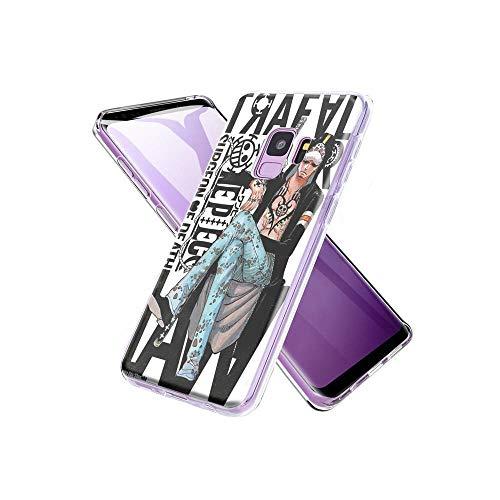 CHblINsUo Conciliable con Samsung Galaxy S9 Plus Funda, de Silicona Suave a Prueba de Golpes Transparente TPU Protector de diseño de la Funda para Samsung Galaxy S9 Plus #UoA002