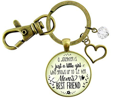 Gutsy Goodness - Llavero para madre e hija, diseño con texto en inglés Friendship Saying, hecho a mano, joyería de recuerdo
