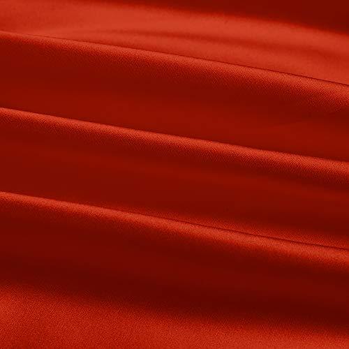 MUYUNXI Tela De Raso Forro De Tela para Vestidos De Novias Fundas Artesanías Vestidos Blusas Ropa Interior 140 Cm De Ancho Vendido por Metro(Color:Rojo óxido)