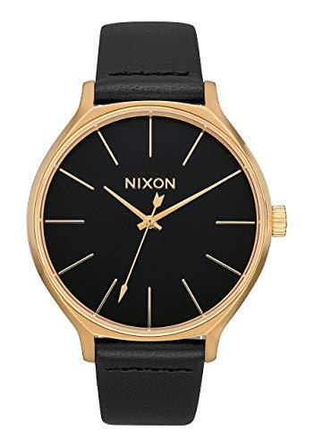 Nixon Armbanduhr Clique Leder Gold / Black