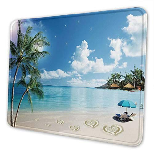 ZMKDLL Cute Mouse Pads with Stitched Edge Summer Beach Non-Slip Rubber Mouse Mat for Home Study Office Laptop Computer & PC Kid Gift 10 x 8 Inches, Style6
