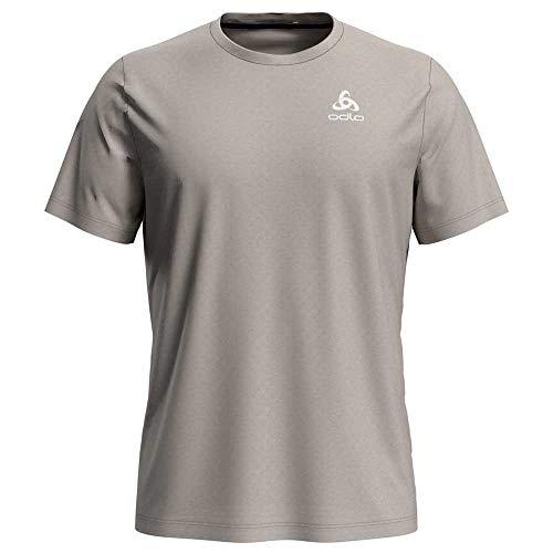 Odlo T-Shirt Millennium à col Rond pour Homme S Argenté mélangé