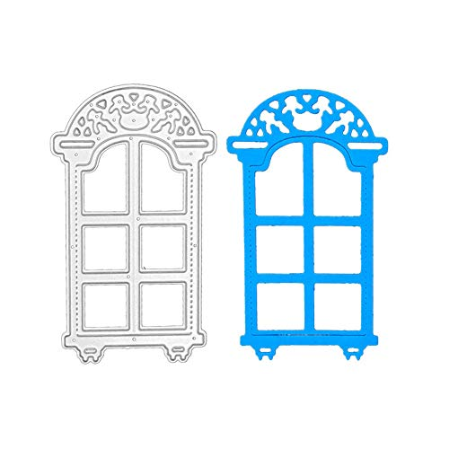 Window Frame Die Cuts Stencil, Metal Cutting Die Cutting Die Template Scrabooking Supplies for Invitation Card Making, Paper Crafting, Envelope, Emboosing, DIY Photo Album