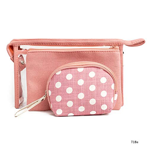 TRUEGRIT 3pc/Portable Cosmetic Bag Waterproof Transparent Cosmetic Bag Printing Travel Toiletry Bag 718e