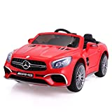 JAXPETY Mercedes Benz 12V Electric Kids Ride On Car Licensed MP3 RC Remote Control (Red)